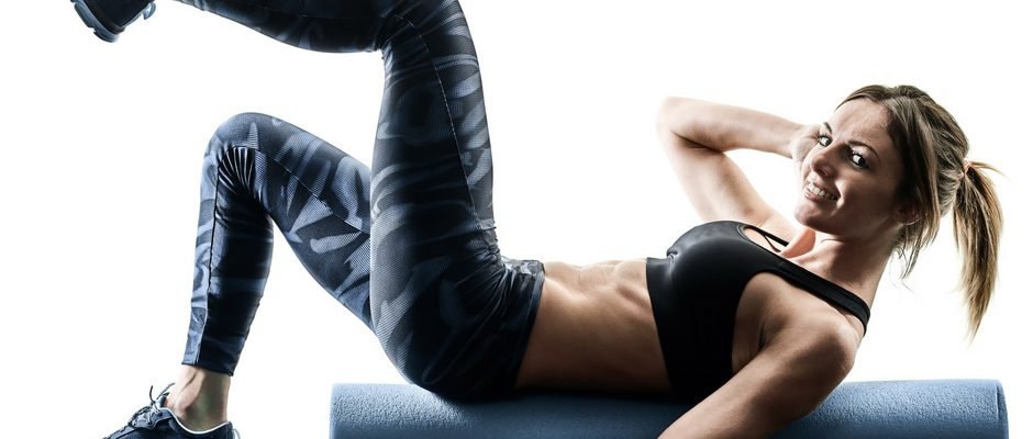 core strength and core work training pilates based on a foam roller
